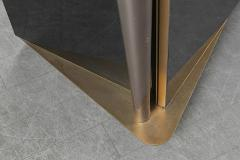 Superb design 4 door cabinet with beautiful gold bronze and brushed steel accent - 1445903