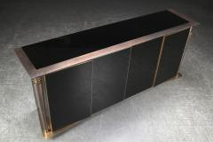 Superb design 4 door cabinet with beautiful gold bronze and brushed steel accent - 1445914