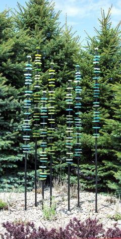 Susan Rankin Standing Grove in Blues and Greens - 1043299