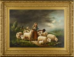 Susan Waters A Shepherdess and her Flock by Susan Waters - 1571016