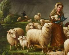 Susan Waters A Shepherdess and her Flock by Susan Waters - 1571017