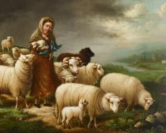 Susan Waters A Shepherdess and her Flock by Susan Waters - 1571018