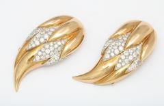 Suzanne Belperron Pair of Diamond 18K Gold Flame Clips by Suzanne Belperron Circa 1940 - 85559