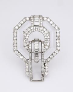 Suzanne Belperron Rock Crystal Diamond Brooch by Suzanne Belperron - 1571915