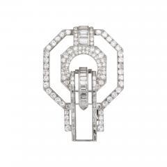 Suzanne Belperron Rock Crystal Diamond Brooch by Suzanne Belperron - 1573891