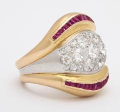Suzanne Belperron Suzanne Belperron Diamond Ruby Ring - 1368344
