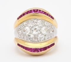 Suzanne Belperron Suzanne Belperron Diamond Ruby Ring - 1368345
