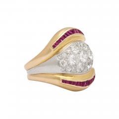 Suzanne Belperron Suzanne Belperron Diamond Ruby Ring - 1369432