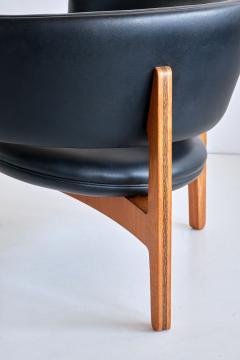 Sven Ellekaer Pair of Sven Ellekaer Three Legged Lounge Chairs Chr Linneberg Denmark 1962 - 1933412