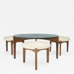 Sven Ellekaer Sven Ellekaer Three Leg Coffee Table and Three Stools Christian Linneberg - 701396