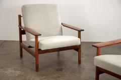 Sven Ivar Dysthe Pair of Rosewood Modern Lounge Chairs - 1298024