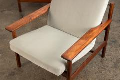 Sven Ivar Dysthe Pair of Rosewood Modern Lounge Chairs - 1298027
