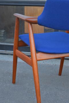 Svend Aage Eriksen Stunning Pair of Glostrup Armchairs w New Cobalt Blue Melton Wool - 2093816