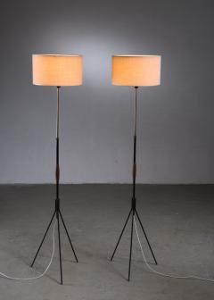 Svend Aage Holm S rensen Pair of Danish Modern height adjustable floor lamps - 2006392
