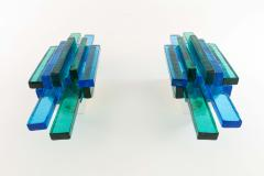 Svend Aage Holm S rensen Pair of blue wall lamps designed by Svend Aage Holm S rensen 1960s - 1049085