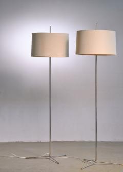 Svend Aage Holm S rensen Svend Aage Holm S rensen pair of steel floor lamps Denmark - 1951732