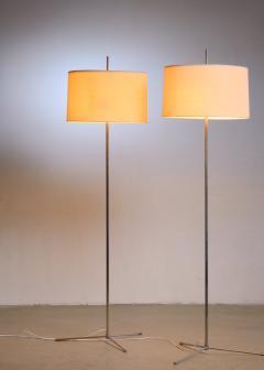 Svend Aage Holm S rensen Svend Aage Holm S rensen pair of steel floor lamps Denmark - 1951733