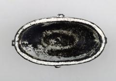 Svend Hammersh i Hammershoj Bowl in glazed stoneware Beautiful gray black double glaze - 1362187