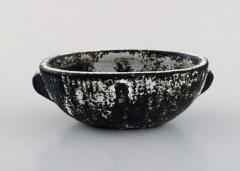 Svend Hammersh i Hammershoj Bowl in glazed stoneware Beautiful gray black double glaze - 1362193