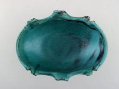 Svend Hammersh i Hammershoj Bowl in glazed stoneware Beautiful green black double glaze - 1361997