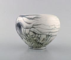 Svend Hammersh i Hammershoj Vase in glazed stoneware Beautiful gray black double glaze - 1362192