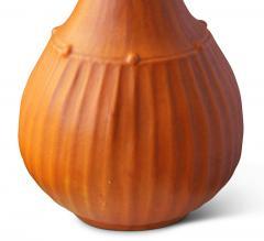 Svend Hammershoj Organically Modeled Table Lamp in Rare Orange Glaze by Sven Hammershoi - 793180