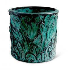 Svend Hammershoj Vase with Energetic Acanthus Leaves in Relief by Svend Hammershoi - 793154