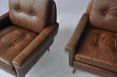 Svend Skipper Pair of Svend Skipper Leather Lounge Chairs - 394224