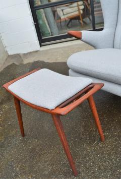 Svend Skipper Rare Pair Svend Skipper Restored Papa Bear Lounge Chairs Ottomans - 2061421