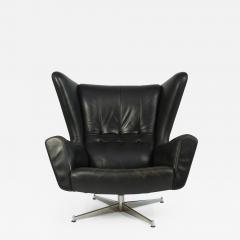 Svend Skipper Svend Skipper Leather Lounge Chair and Ottoman - 764232