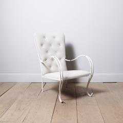 Swedish 1950s Iron and Leather Lounge Chair - 757077