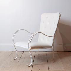 Swedish 1950s Iron and Leather Lounge Chair - 757079