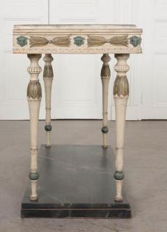 Swedish 19th Century Carved and Painted Console - 1806956