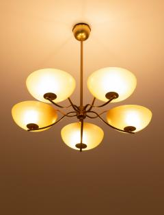 Swedish Art Deco Chandelier in Brass and Glass - 1433833