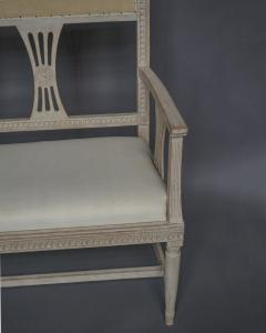 Swedish Gustavian Style Settee with Floral Crest - 606835