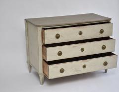 Swedish Gustavian oak chest of drawers - 1951485