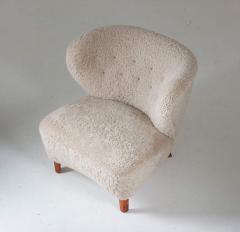Swedish Lounge Chairs in Sheepskin by G sta Jonsson 1940s - 1637144