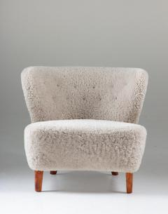 Swedish Lounge Chairs in Sheepskin by G sta Jonsson 1940s - 1637149