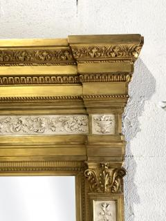 Swedish Neoclassic Monumental Cream Painted Parcel Gilt Pier Mirror early19 C - 1464549