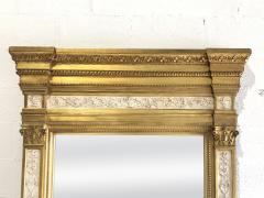 Swedish Neoclassic Monumental Cream Painted Parcel Gilt Pier Mirror early19 C - 1464552