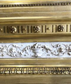 Swedish Neoclassic Monumental Cream Painted Parcel Gilt Pier Mirror early19 C - 1464553