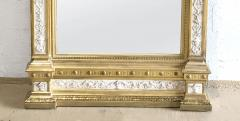 Swedish Neoclassic Monumental Cream Painted Parcel Gilt Pier Mirror early19 C - 1464557