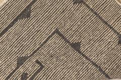 Swedish Skvattram Half Pile Geometric Black and Beige Rug - 1811785