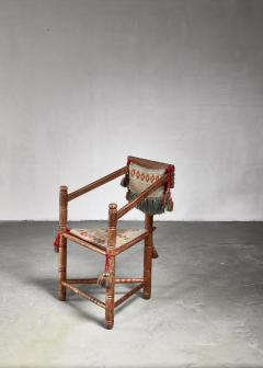 Swedish monk chair circa 1900 - 941750