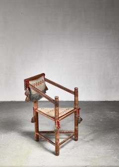 Swedish monk chair circa 1900 - 941752