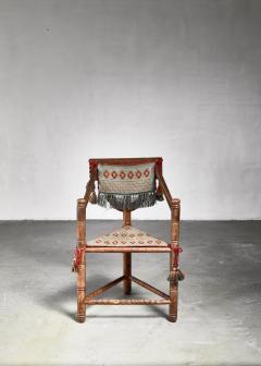 Swedish monk chair circa 1900 - 941753