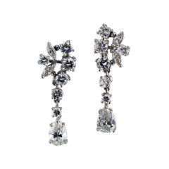 Swinging Diamond Drop Earrings - 63804