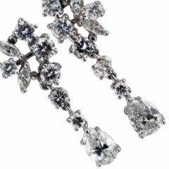 Swinging Diamond Drop Earrings - 63805