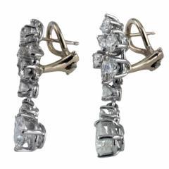 Swinging Diamond Drop Earrings - 63807