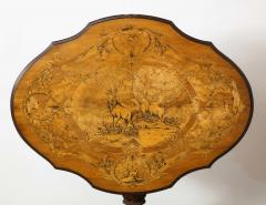 Swiss Black Forest Walnut Marquetry Tilt Top Table - 2122080